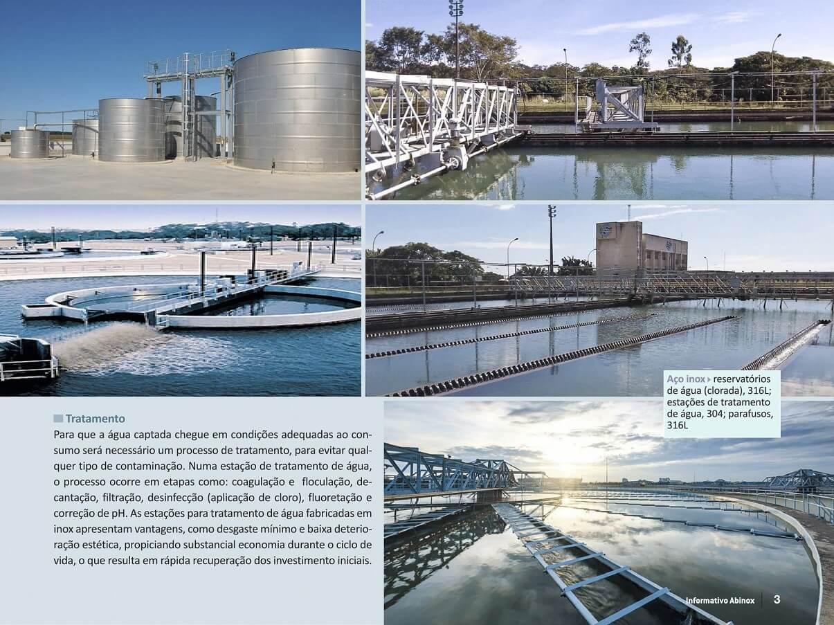O inox na distribuição de água