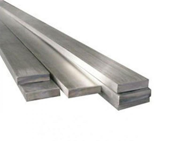 Barra de aço inox retangular