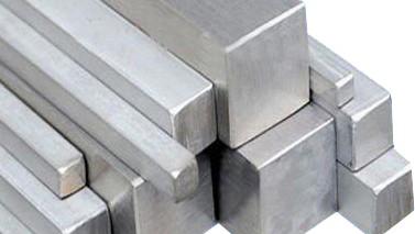 Barra quadrada em aço inox