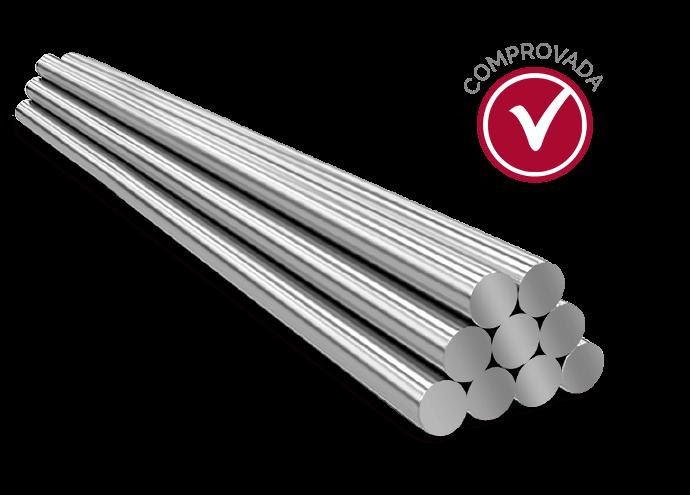Toda a linha de barras inoxidáveis Metalinox Cogne tem certificado de origem completo. <br>Certificações internacionais respaldam a qualidade dos produtos.